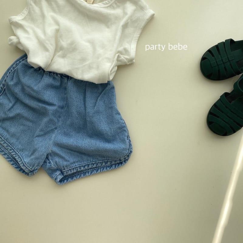 PARTY KIDS - Korean Children Fashion - #Kfashion4kids - Bebe Ppi Ppi Denim Shorts - 3