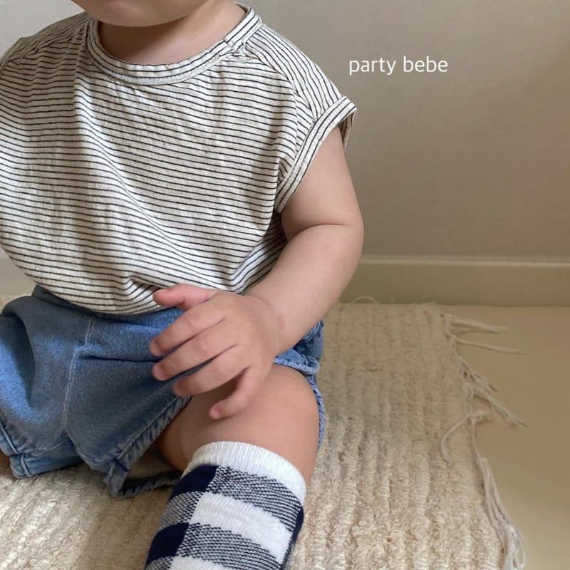 PARTY KIDS - Korean Children Fashion - #Kfashion4kids - Bebe Ppi Ppi Denim Shorts - 9