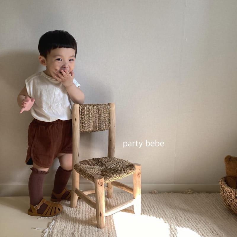 PARTY KIDS - Korean Children Fashion - #Kfashion4kids - Bebe Ppi Ppi Simple Shorts - 10