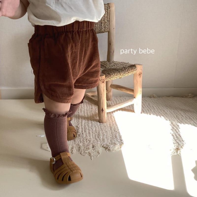 PARTY KIDS - Korean Children Fashion - #Kfashion4kids - Bebe Ppi Ppi Simple Shorts - 12