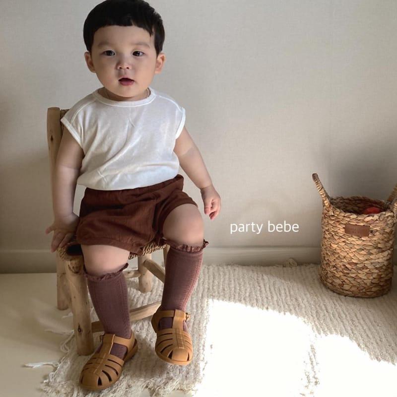 PARTY KIDS - Korean Children Fashion - #Kfashion4kids - Bebe Ppi Ppi Simple Shorts - 9