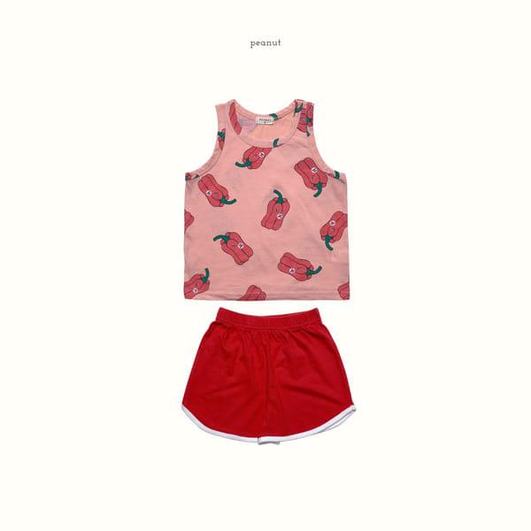 PEANUT - Korean Children Fashion - #Kfashion4kids - Pape Top Bottom Set - 2