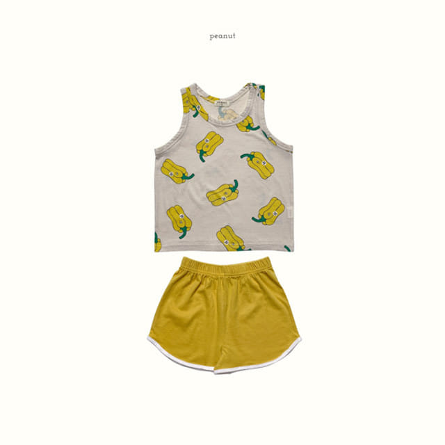 PEANUT - BRAND - Korean Children Fashion - #Kfashion4kids - Pape Top Bottom Set