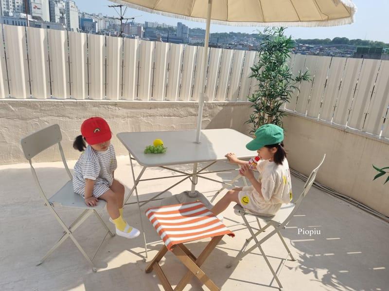 PIOPIU - Korean Children Fashion - #Kfashion4kids - Smile Top Bottom Set - 10
