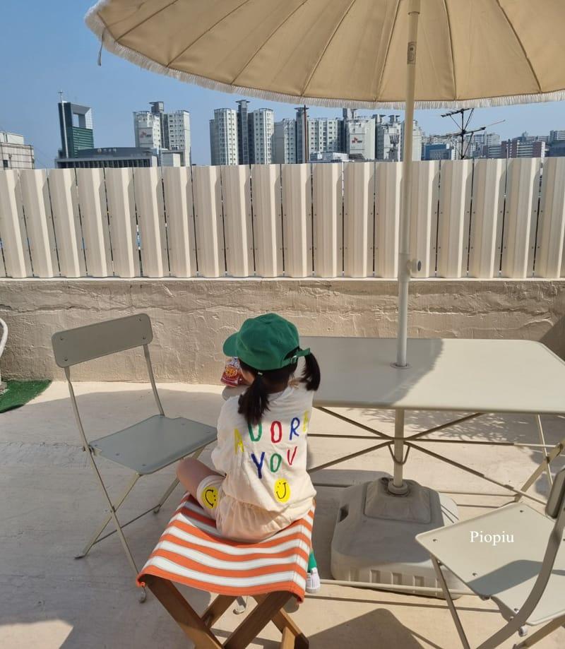 PIOPIU - Korean Children Fashion - #Kfashion4kids - Smile Top Bottom Set - 11