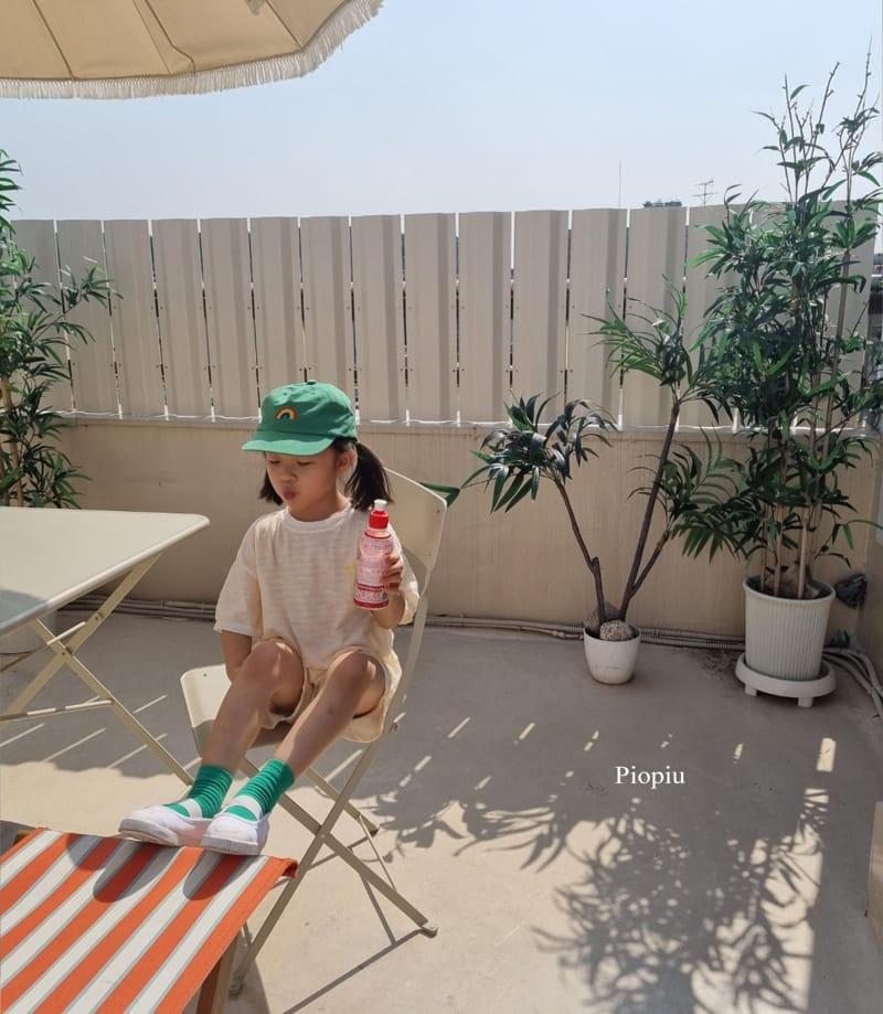 PIOPIU - Korean Children Fashion - #Kfashion4kids - Smile Top Bottom Set - 12