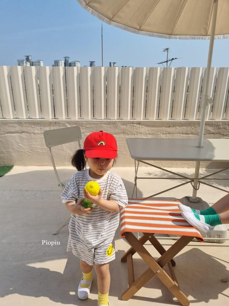 PIOPIU - Korean Children Fashion - #Kfashion4kids - Smile Top Bottom Set - 5