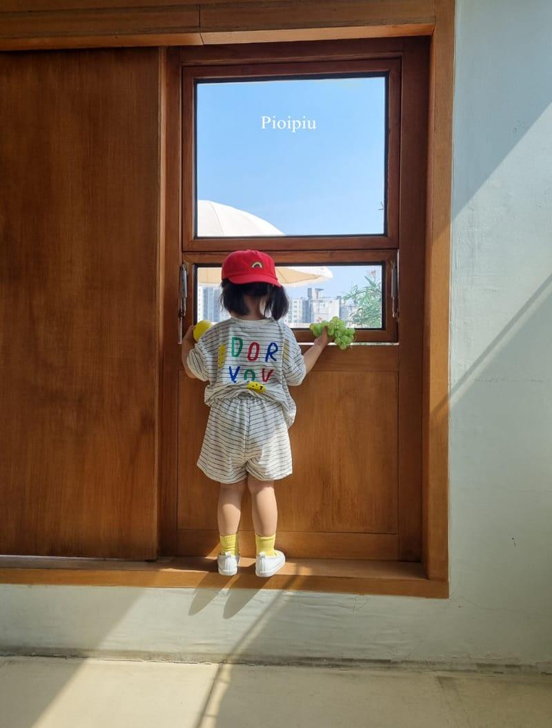 PIOPIU - Korean Children Fashion - #Kfashion4kids - Smile Top Bottom Set - 9
