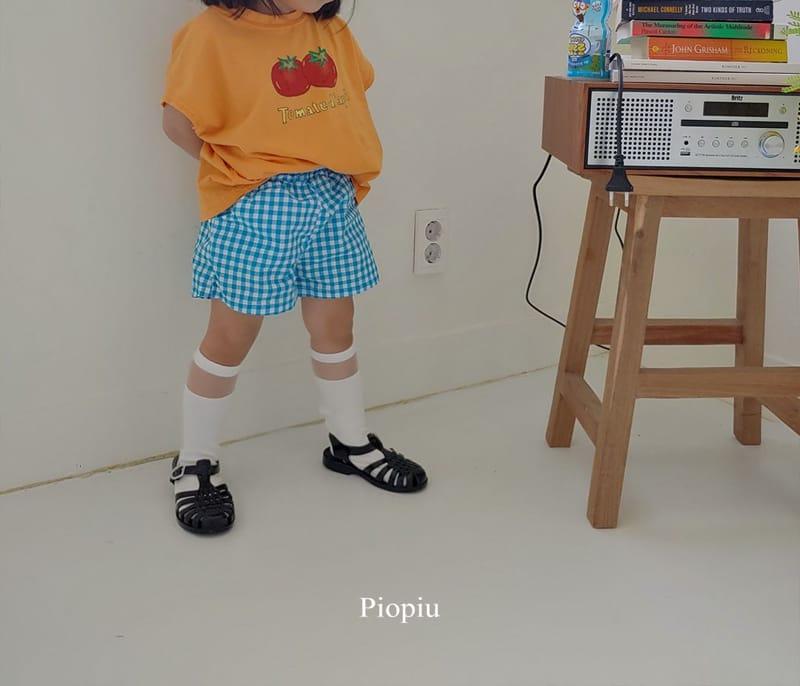 PIOPIU - Korean Children Fashion - #Kfashion4kids - Check Shorts