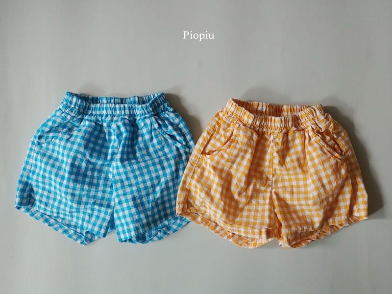 PIOPIU - Korean Children Fashion - #Kfashion4kids - Check Shorts - 3