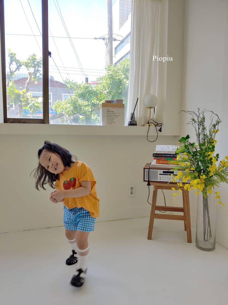 PIOPIU - Korean Children Fashion - #Kfashion4kids - Check Shorts - 5