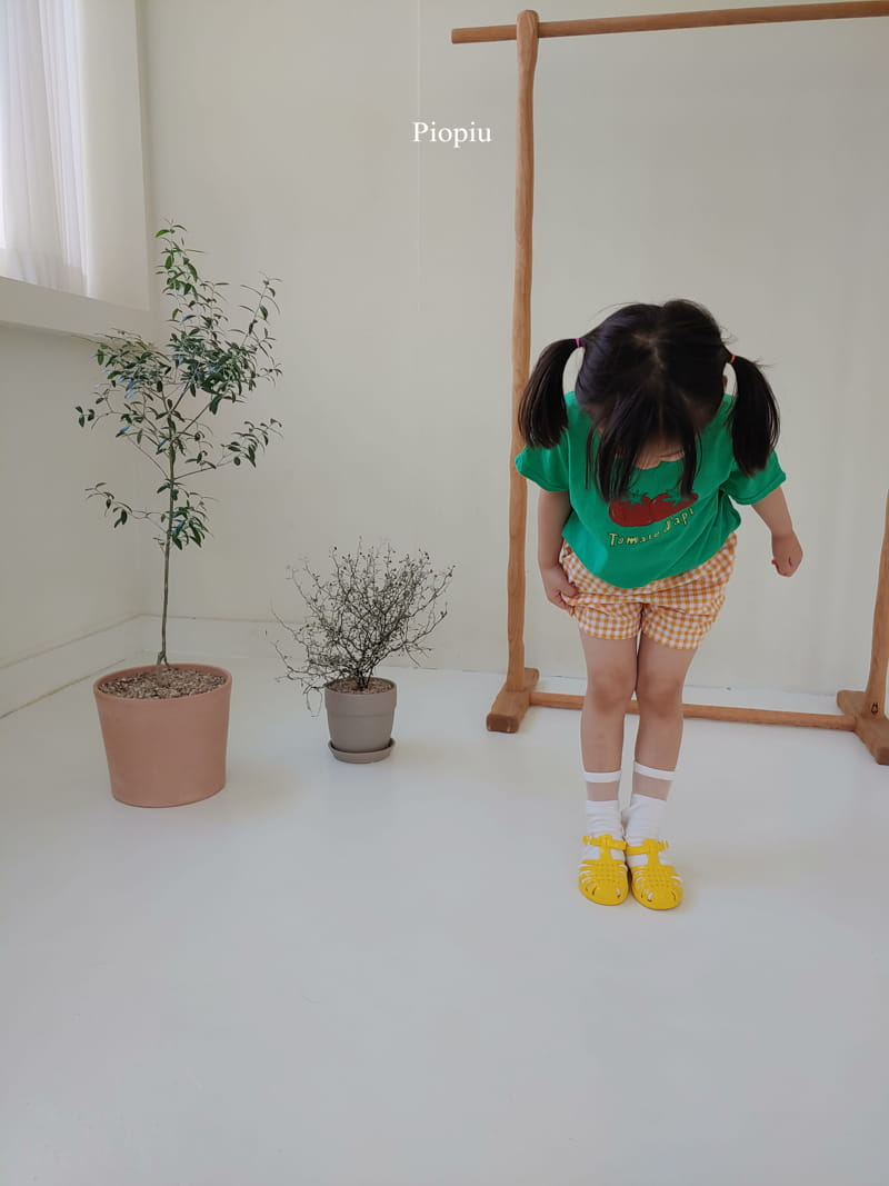 PIOPIU - Korean Children Fashion - #Kfashion4kids - Check Shorts - 7