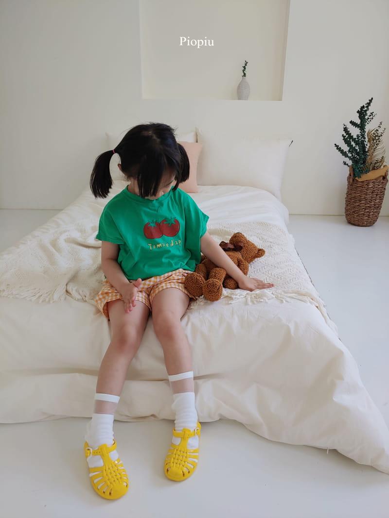 PIOPIU - Korean Children Fashion - #Kfashion4kids - Check Shorts - 8