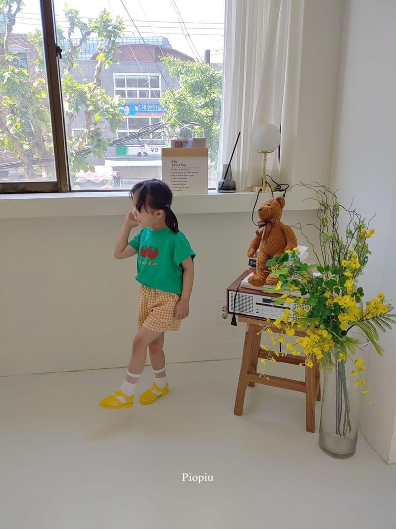 PIOPIU - Korean Children Fashion - #Kfashion4kids - Check Shorts - 9