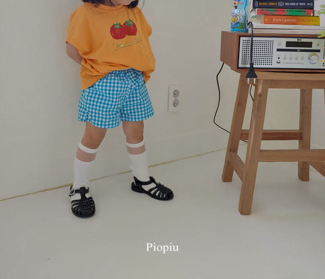 PIOPIU - BRAND - Korean Children Fashion - #Kfashion4kids - Check Shorts