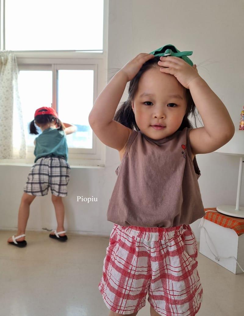 PIOPIU - Korean Children Fashion - #Kfashion4kids - Summer Check Shorts - 11
