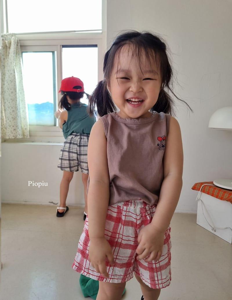 PIOPIU - Korean Children Fashion - #Kfashion4kids - Summer Check Shorts - 12