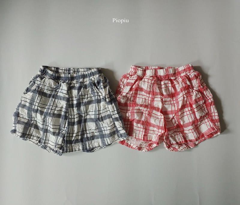 PIOPIU - Korean Children Fashion - #Kfashion4kids - Summer Check Shorts - 2