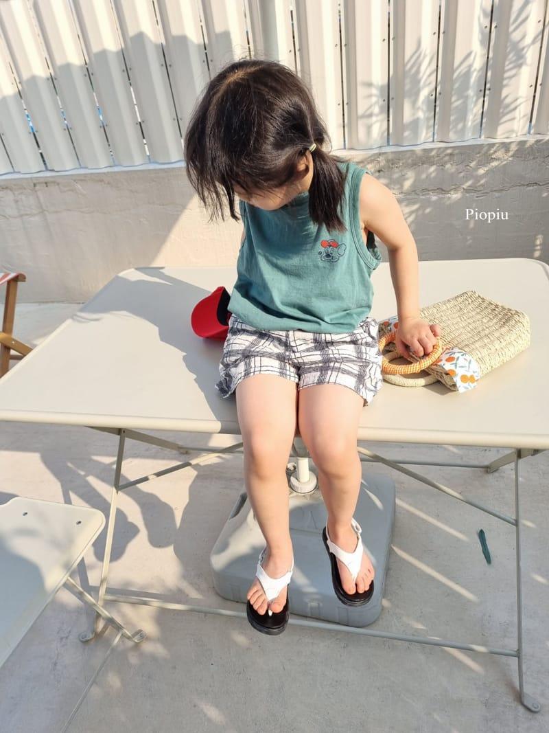 PIOPIU - Korean Children Fashion - #Kfashion4kids - Summer Check Shorts - 4