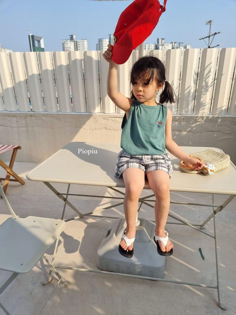 PIOPIU - Korean Children Fashion - #Kfashion4kids - Summer Check Shorts - 5