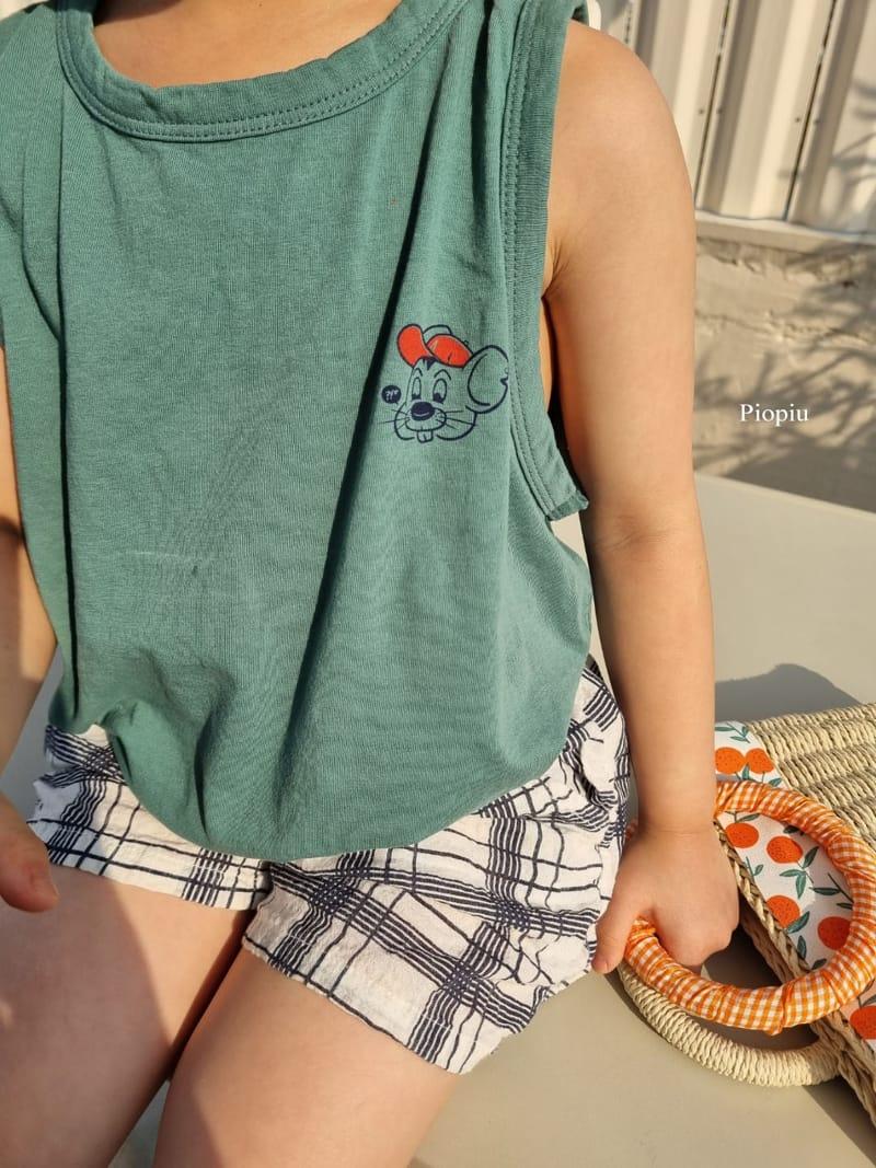 PIOPIU - Korean Children Fashion - #Kfashion4kids - Summer Check Shorts - 6