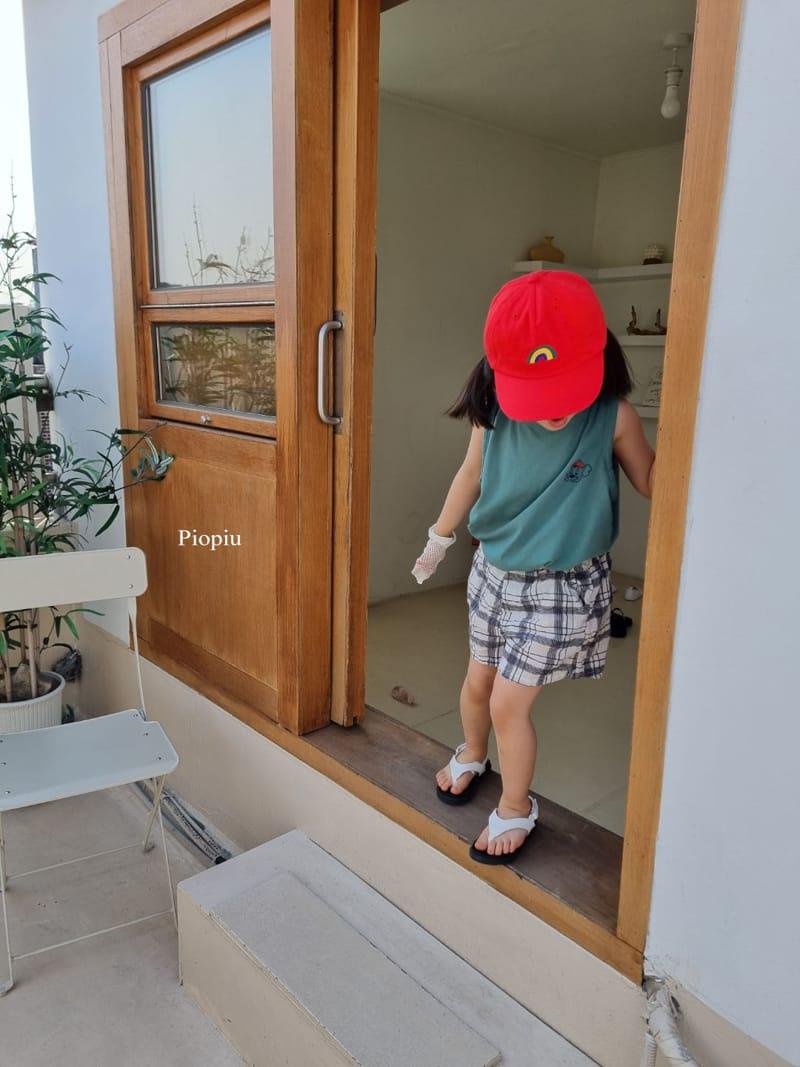 PIOPIU - Korean Children Fashion - #Kfashion4kids - Summer Check Shorts - 7