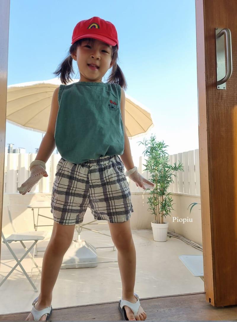 PIOPIU - Korean Children Fashion - #Kfashion4kids - Summer Check Shorts - 8