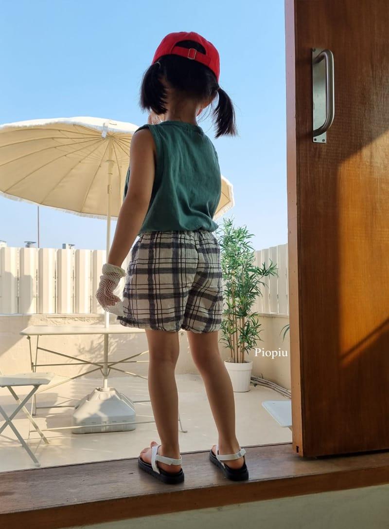 PIOPIU - Korean Children Fashion - #Kfashion4kids - Summer Check Shorts - 9