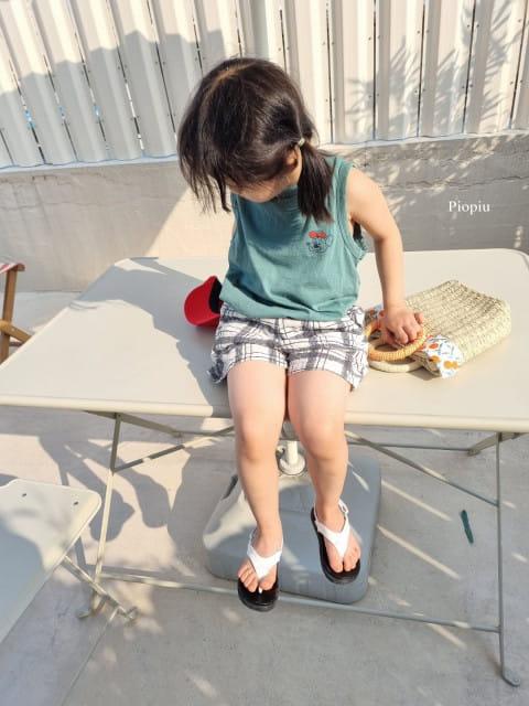 PIOPIU - BRAND - Korean Children Fashion - #Kfashion4kids - Summer Check Shorts
