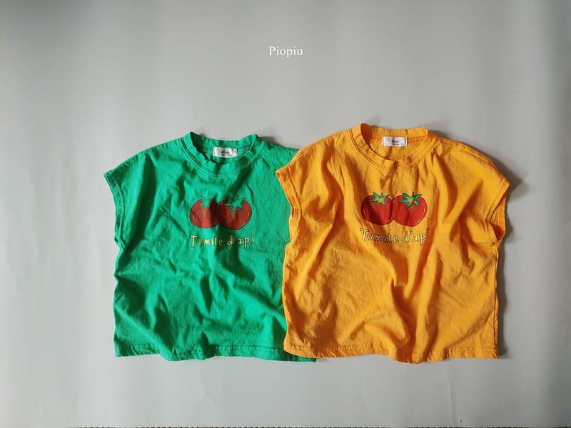 PIOPIU - Korean Children Fashion - #Kfashion4kids - Tomato Sleeveless Te - 2