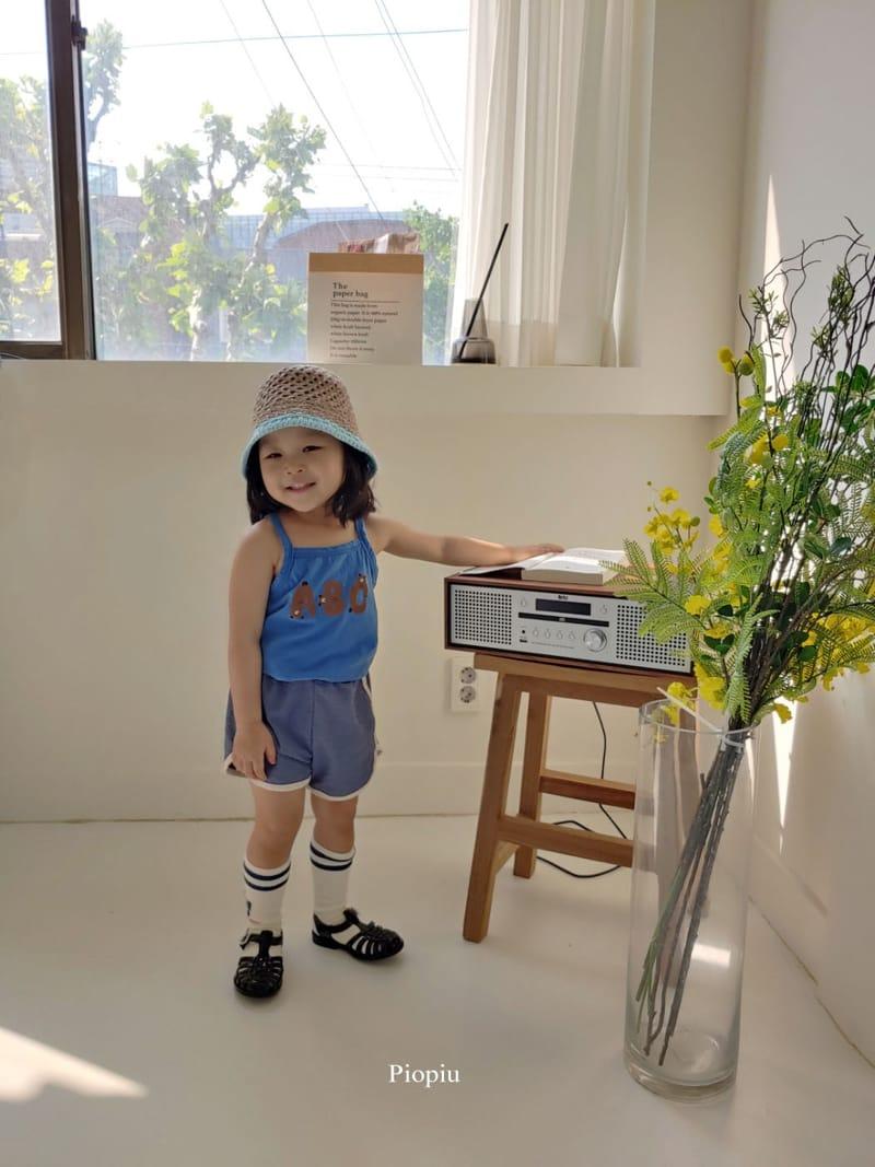 PIOPIU - Korean Children Fashion - #Kfashion4kids - Alphabet Sleeveless Tee
