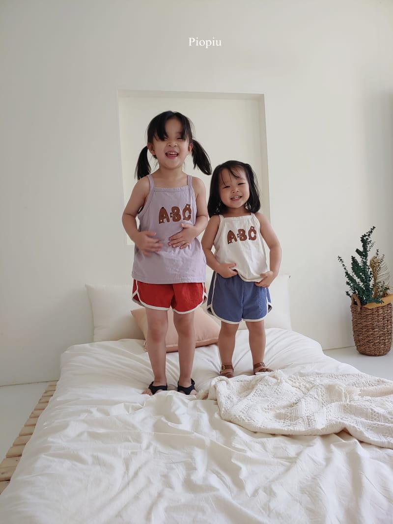 PIOPIU - Korean Children Fashion - #Kfashion4kids - Alphabet Sleeveless Tee - 10