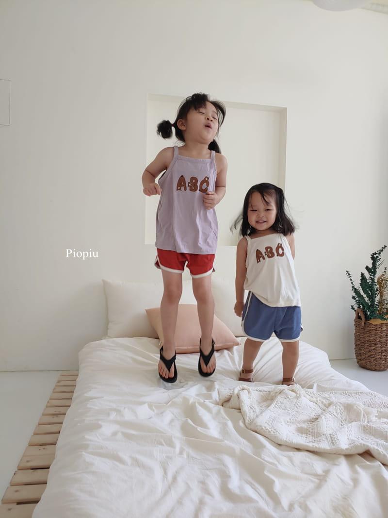 PIOPIU - Korean Children Fashion - #Kfashion4kids - Alphabet Sleeveless Tee - 11