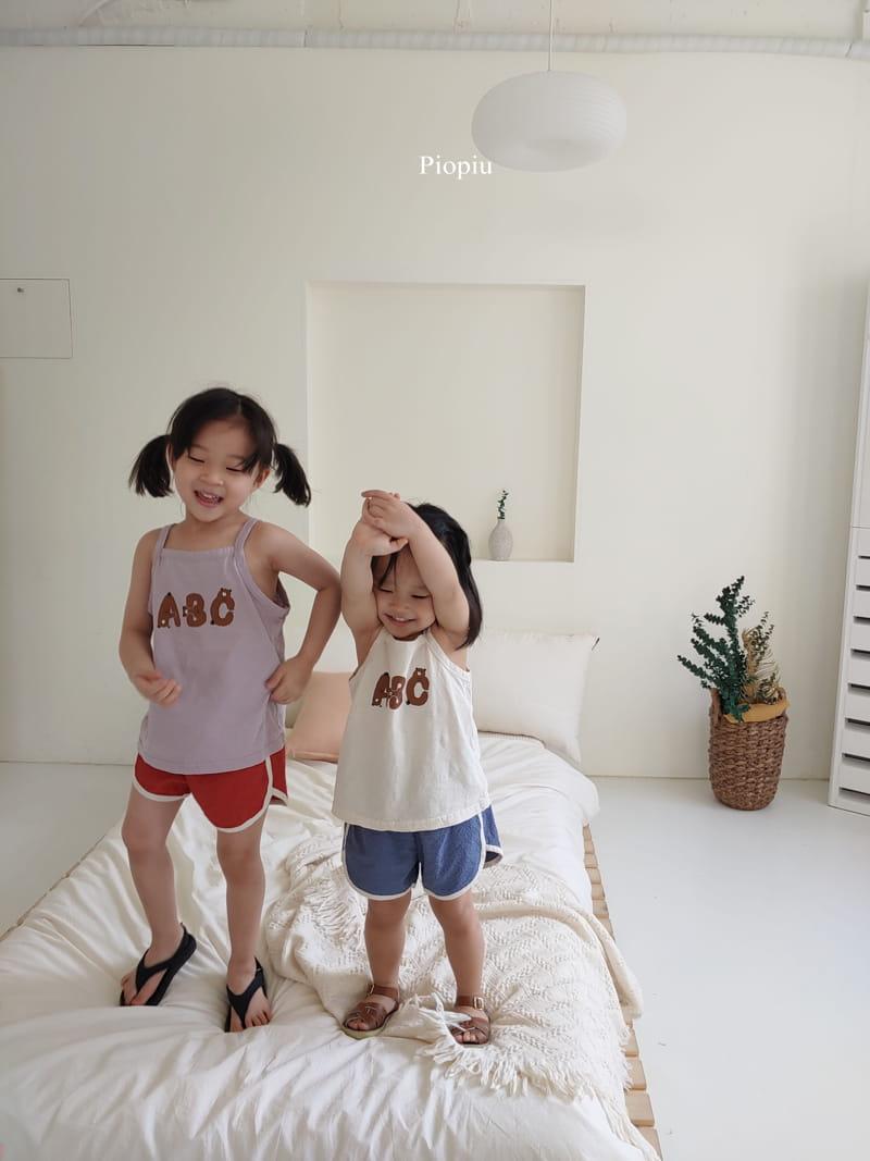 PIOPIU - Korean Children Fashion - #Kfashion4kids - Alphabet Sleeveless Tee - 12