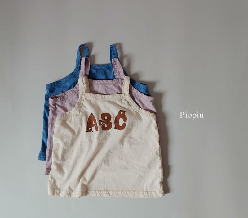 PIOPIU - Korean Children Fashion - #Kfashion4kids - Alphabet Sleeveless Tee - 2