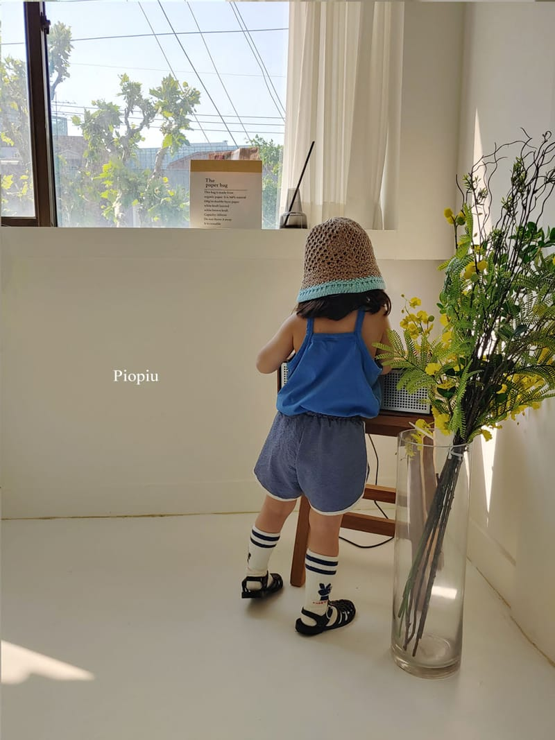 PIOPIU - Korean Children Fashion - #Kfashion4kids - Alphabet Sleeveless Tee - 4