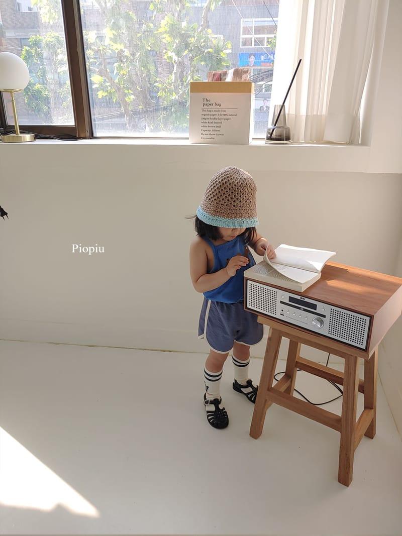 PIOPIU - Korean Children Fashion - #Kfashion4kids - Alphabet Sleeveless Tee - 5