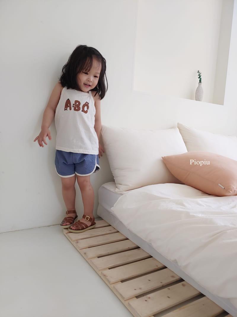 PIOPIU - Korean Children Fashion - #Kfashion4kids - Alphabet Sleeveless Tee - 6