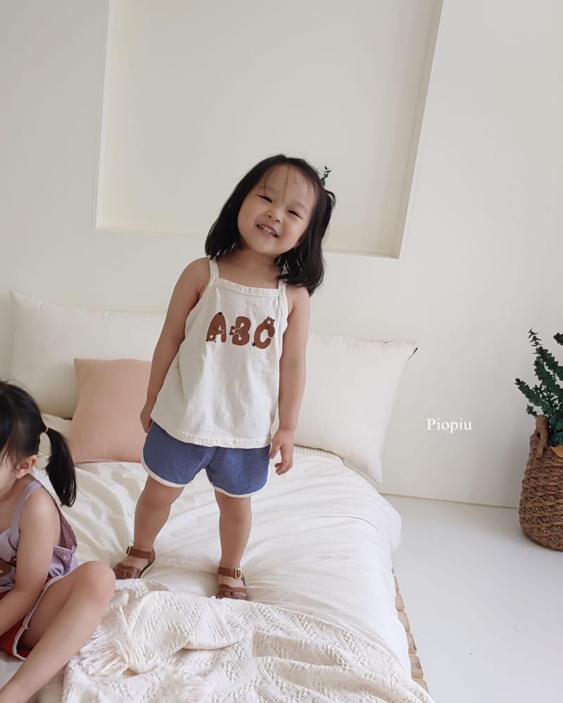 PIOPIU - Korean Children Fashion - #Kfashion4kids - Alphabet Sleeveless Tee - 7
