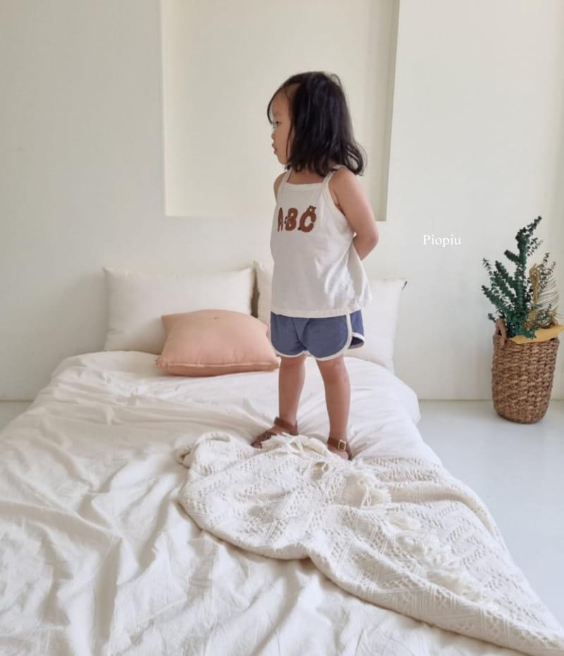 PIOPIU - Korean Children Fashion - #Kfashion4kids - Alphabet Sleeveless Tee - 8