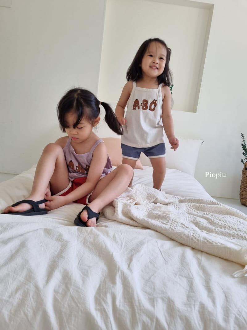 PIOPIU - Korean Children Fashion - #Kfashion4kids - Alphabet Sleeveless Tee - 9