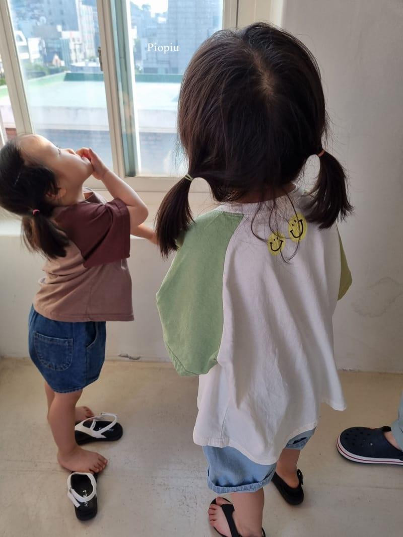 PIOPIU - Korean Children Fashion - #Kfashion4kids - Smile Color Tee - 10