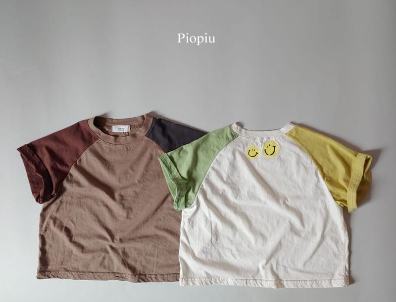 PIOPIU - Korean Children Fashion - #Kfashion4kids - Smile Color Tee - 2