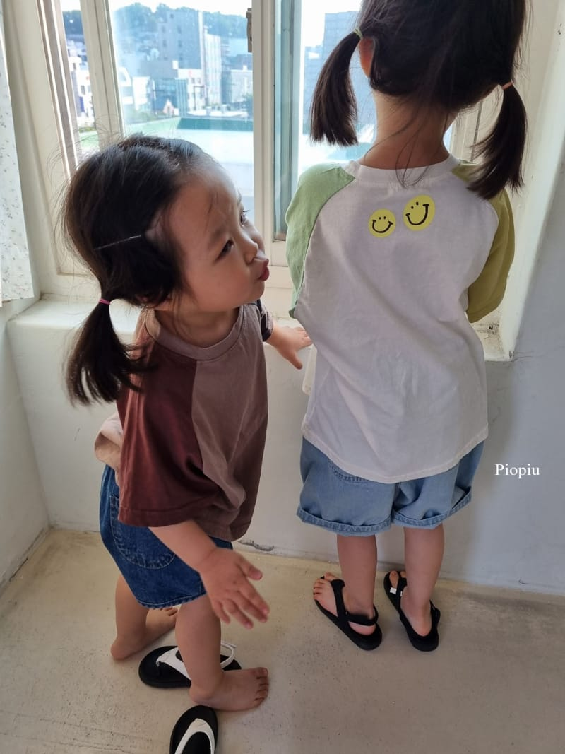 PIOPIU - Korean Children Fashion - #Kfashion4kids - Smile Color Tee - 8