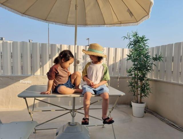 PIOPIU - BRAND - Korean Children Fashion - #Kfashion4kids - Smile Color Tee