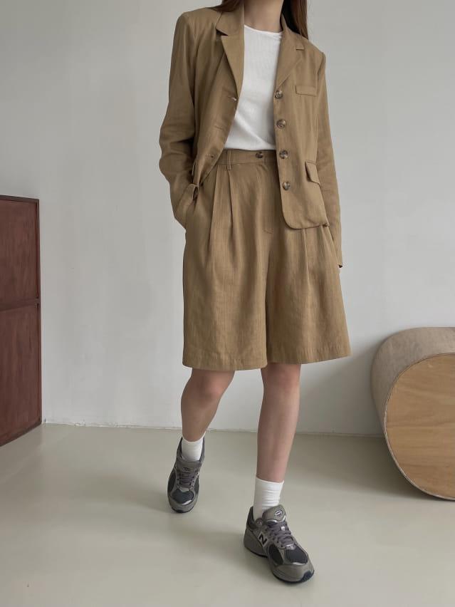 RATEL - Korean Children Fashion - #Kfashion4kids - Bibi Linen Top Bottom Set