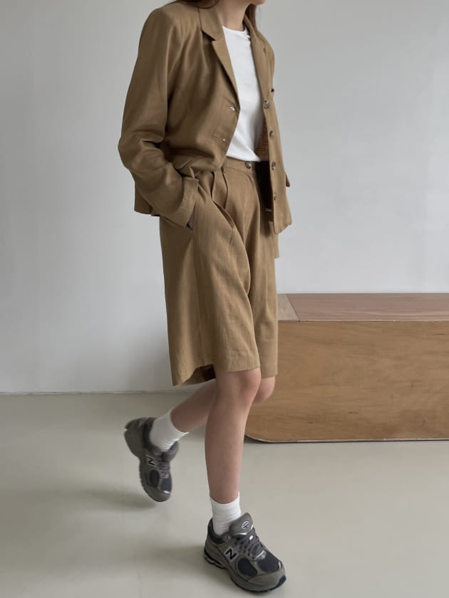RATEL - BRAND - Korean Children Fashion - #Kfashion4kids - Bibi Linen Top Bottom Set