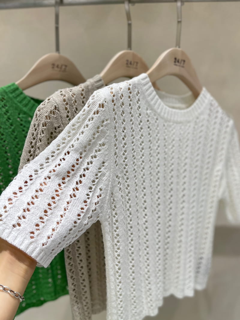 TWENTY FOUR SEVEN - Korean Children Fashion - #Kfashion4kids - Scar Punching Knit  - 3