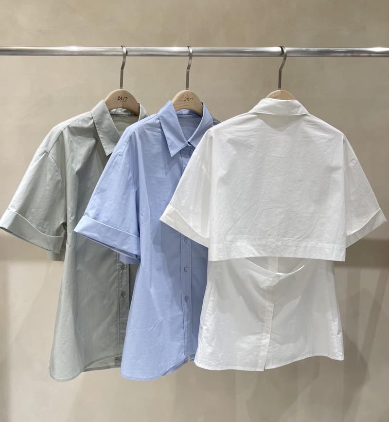 TWENTY FOUR SEVEN - Korean Children Fashion - #Kfashion4kids - back-open Shirt