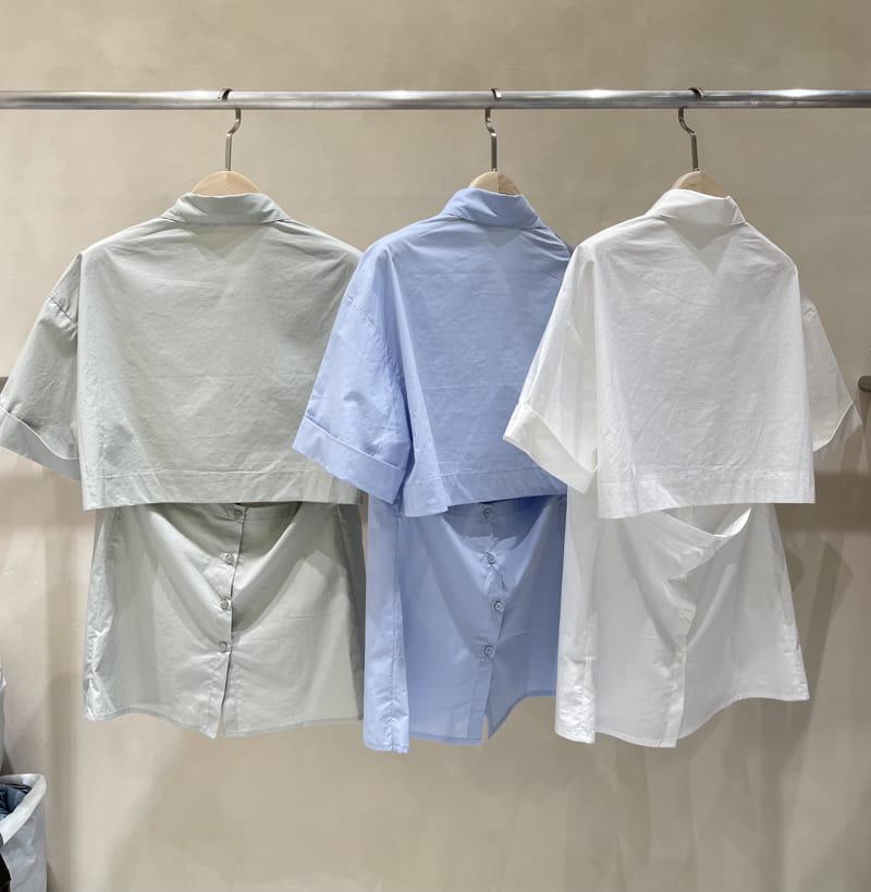TWENTY FOUR SEVEN - Korean Children Fashion - #Kfashion4kids - back-open Shirt - 3